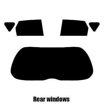 Pre gesneden venster tint - Subaru Trezia 5-deurs Hatchback - 2010 tot en met 2016 - achterzijde windows