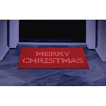 Polarlite PDE-05-001 Illuminated doormat Merry Christmas (doormat) Red LED (monochrome) Red