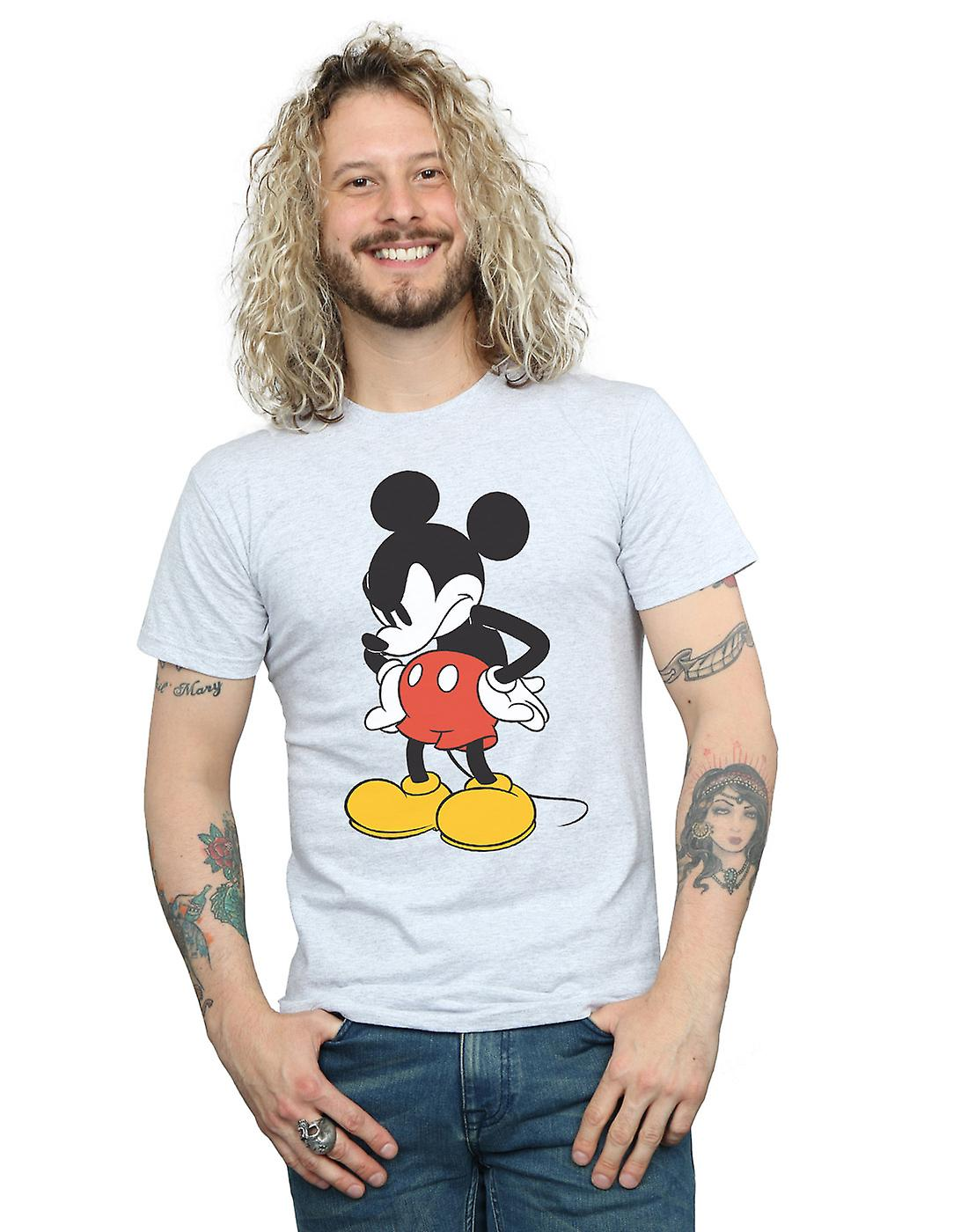 Disney Men's Mickey Mouse Angry Look Down T-Shirt