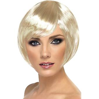 Short Blonde Bob Wig, Babe Wig. With Fringe, Fancy Dress Accessory