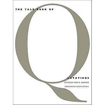Yale boken offerter av Fred R. Shapiro - Joseph Epstein - 978