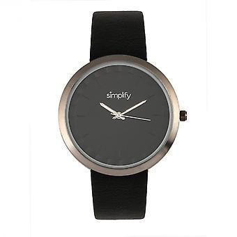 Yksinkertaista 6000-rannekkeen kello-Gunmetal/Black