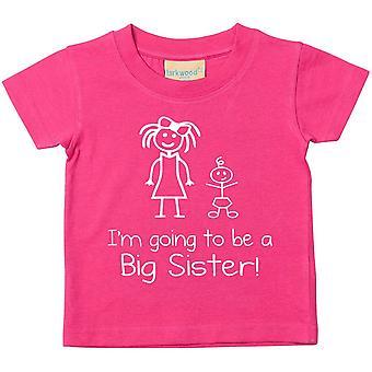 انا ' m ستكون الأخت الكبيرة الوردي التي شيرت