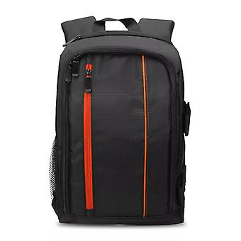 Spacious camera bag with rain cover, Orange