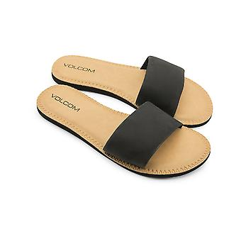 Volcom Simple Slide Flip Flops in Black