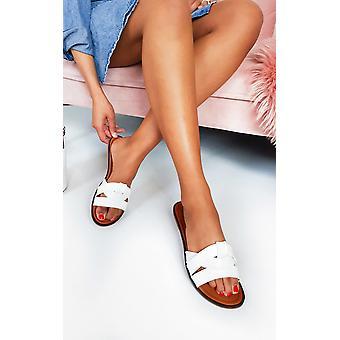 IKRUSH damskie Maggie Faux skórzane wsuwane sandały