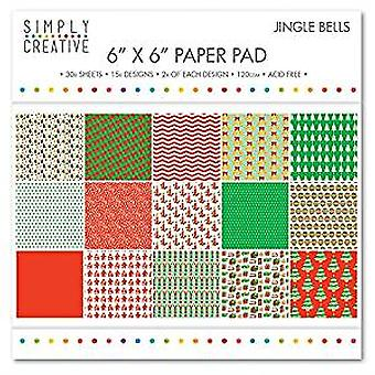 Simply Creative FSC Paper Pad 6x6 Inch Jingle Bells