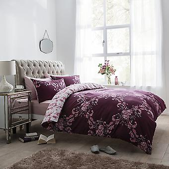 Pieridae Floral Damask Duvet Cover Set
