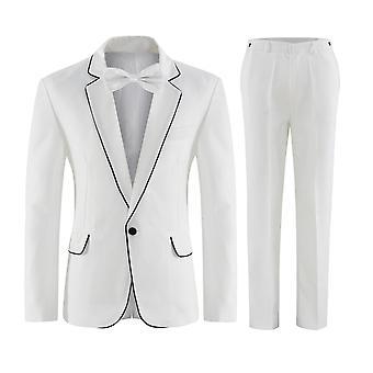 Allthemen Mens Suits 2 Piece Slim Fit Suit Classic 1 Button Business Wedding Dinner Suits  Blazer&Trousers