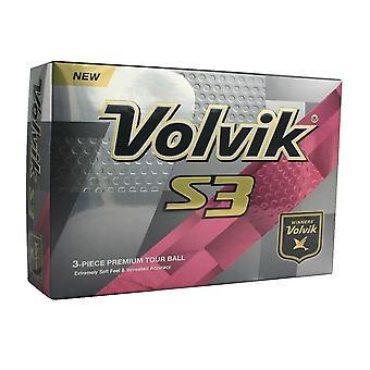 Volvik S3 Golf Balls White 1 Dozen