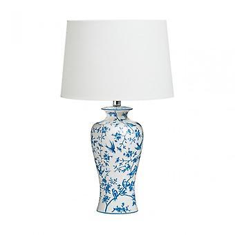 Premier Home Andromeda bordslampa, keramisk, blå