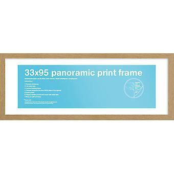 Eton Oak Frame Panoramic Poster / Print Frame