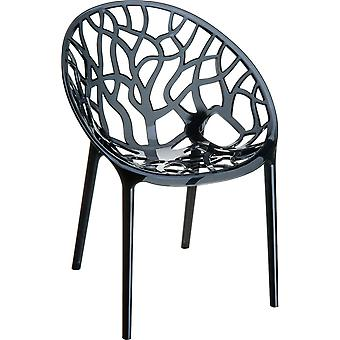 Plage7 - France Chaise Crystal Garden (fr)  Noir chaises de jardin