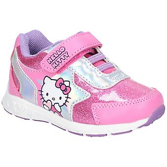 Leomil Hello Kitty Childrens Girls Touch Fastening Trainers