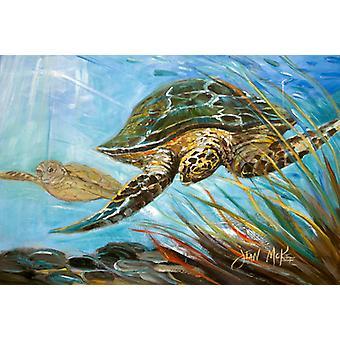 Carolines Treasures  JMK1118PLMT Loggerhead Sea Turtle Fabric Placemat