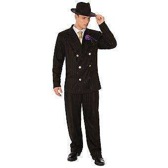 Gangster Deluxe Mobster 1920s 30s 60s Mob Al Capone Mafia Adult Mens Costume