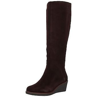 Aerosoles Womens Binocular Knee Leather Closed Toe Knee High Platform Boots