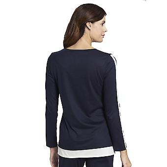 Rösch 1193753-11436 Women's Pure Denim Blue Cotton Pyjama Top