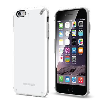 Funda PureGear Slim Shell para iPhone 6/6s Plus - Blanco/Gris