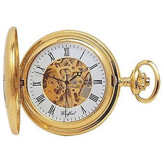 Woodford | Half Hunter | Gold Plated | Skeleton | Pocket | 1021 Watch