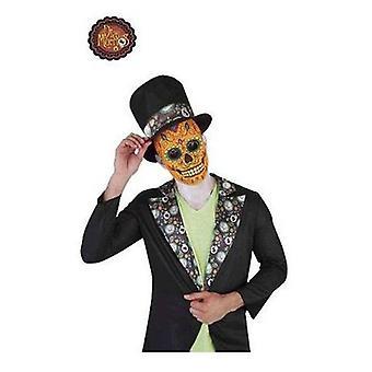 Rubie's Catrín Luxury Man maska czaszki Day Of The Dead (niemowlęta i dzieci, kostiumy)