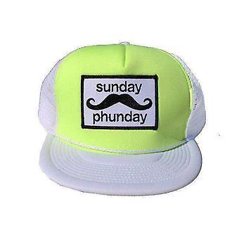 Team phun sunday phunday trucker cap neon yellow