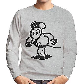 Krazy Kat Ignatz Mouse Startled Mens Sweatshirt
