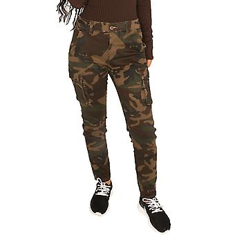 High Rise Camouflage Cargo Pants Utility Trousers