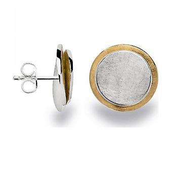 باستيان inverun - 925 الأقراط مسمار الفضة، مطلية جزئيا بالذهب - 22860