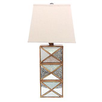 """6,25 """"x 6.75"""" x 27,5 """"kulta, moderni illusionary, peilattu pohja-pöytä valaisin"""