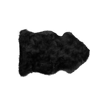 """24"""" x 36"""" x 1.5"""" Black Single Sheepskin - Area Rug"""