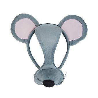 Bristol Novelty Unisex Mouse Mask On Headband With Sound