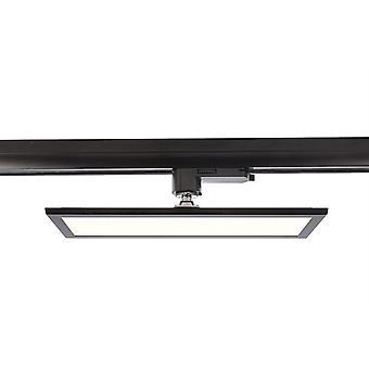 LED 3-fase ferroviário painel holofotes Track Light 20W 4000K 115° preto