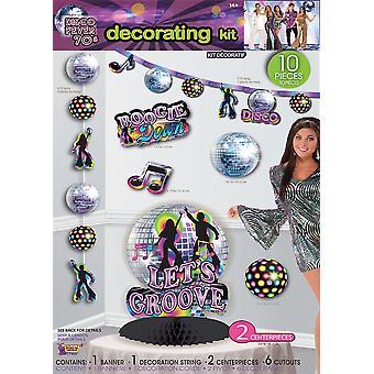 Disco Party dekorowanie 12pc zestaw