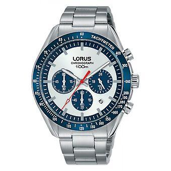 Watch Lorus RT331HX9 - SPORT Chronograph/Dateur Silver Steel Bracelet Wood Silver Steel Men's Silver