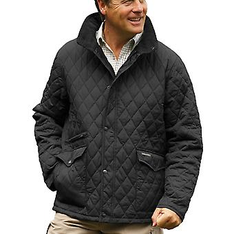 Mestari miesten Penrith Country Estate Diamond peitto takki-musta-Small 34-36