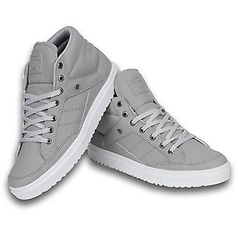 Shoes - Sneaker Mid High - Grey White - Grey