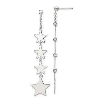 925 Sterling Hopea kiillotettu Mulitple Tähteä Drop ja Dangle Post korvakorut korut lahjat naisille