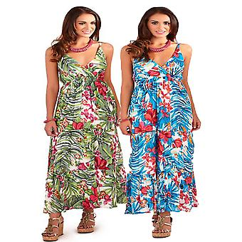 Pistachio Women's Tropical Rainforest Print Maxi Dress
