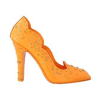 Dolce & Gabbana Orange Askepot Crystal Sko