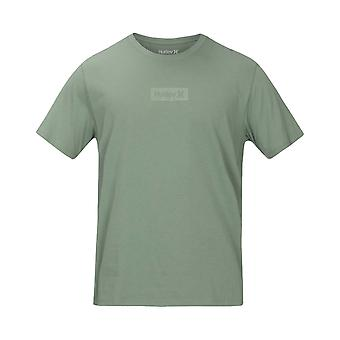 Hurley Men's T-Shirt ~ Dri Fit One & Only Small Box green