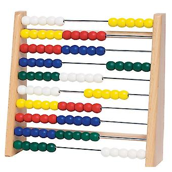 Wooden Abacus  10 Racks 100 Colored Beads  Educational Game  Children Maths