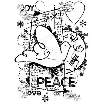 Woodware Polymer Stamp Clear Singles World Peace