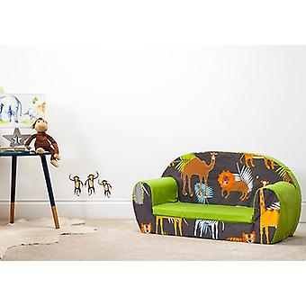 Africa Kid's Soft Foam Toddlers Sofá 2 Seater Seat Nursery Baby Settee Play