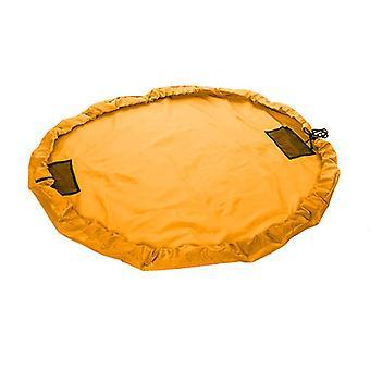 Große 150 cm Wasserwiderstandsfähigkeit 2 in 1 Spielmaty-Spielzeugspeichertasche-Orange