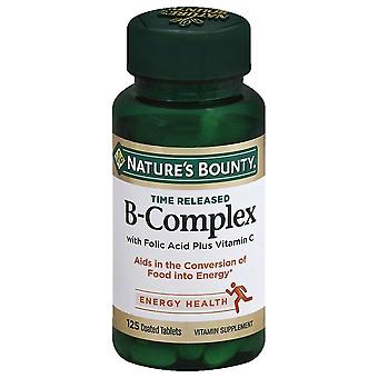 Nature's bounty b-complex, time released, coated tablets, 125 ea