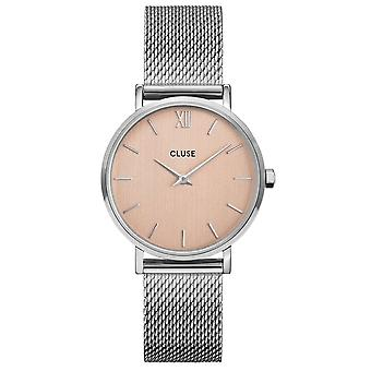 Cluse Watches Cw0101203029 Minuit Rose Gold & Silver Mesh Ladies Watch