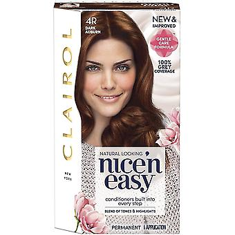 Clairol Nice 'n Easy Permanent Hair Dye Number 4R Dark Auburn Pack Of 3