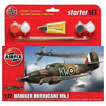 Airfix A55111 1:72 Hawker Hurricane MkI Starter Geschenk Set Modell Kit