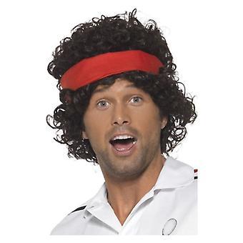 Lat osiemdziesiątych Tennis Player Wig